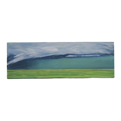 "Jay Wilford Landscape Oil Painting ""Squall,"" 21st Century"
