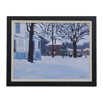 Jay Wilford Winter Scene Oil Painting, 21st Century