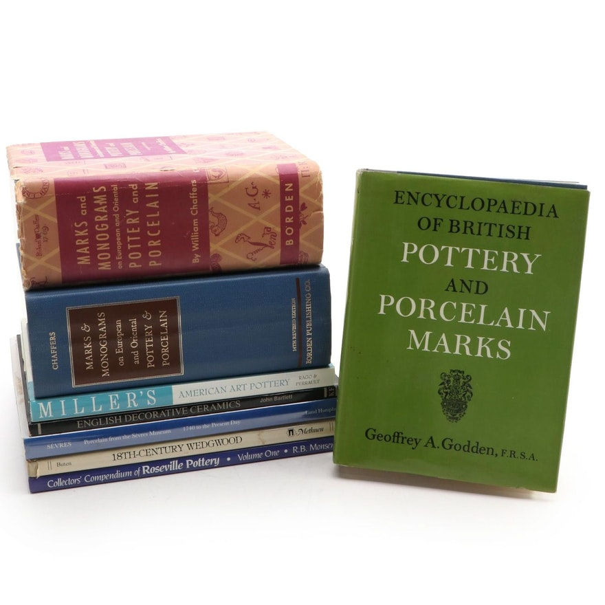 "Pottery and Porcelain Reference Books Including ""Marks & Monograms"" by Chaffers"