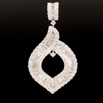 14K 3.49 CTW Diamond Pendant