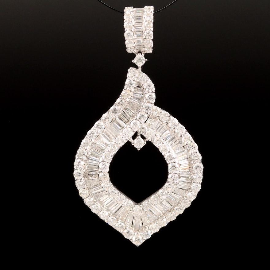 14K 3.49 CTW Diamond Pendant