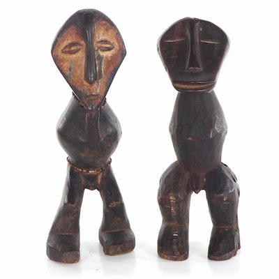 "Lega ""Kakulu Ka Mpito"" Hand-Carved Figures, Democratic Republic of the Congo"