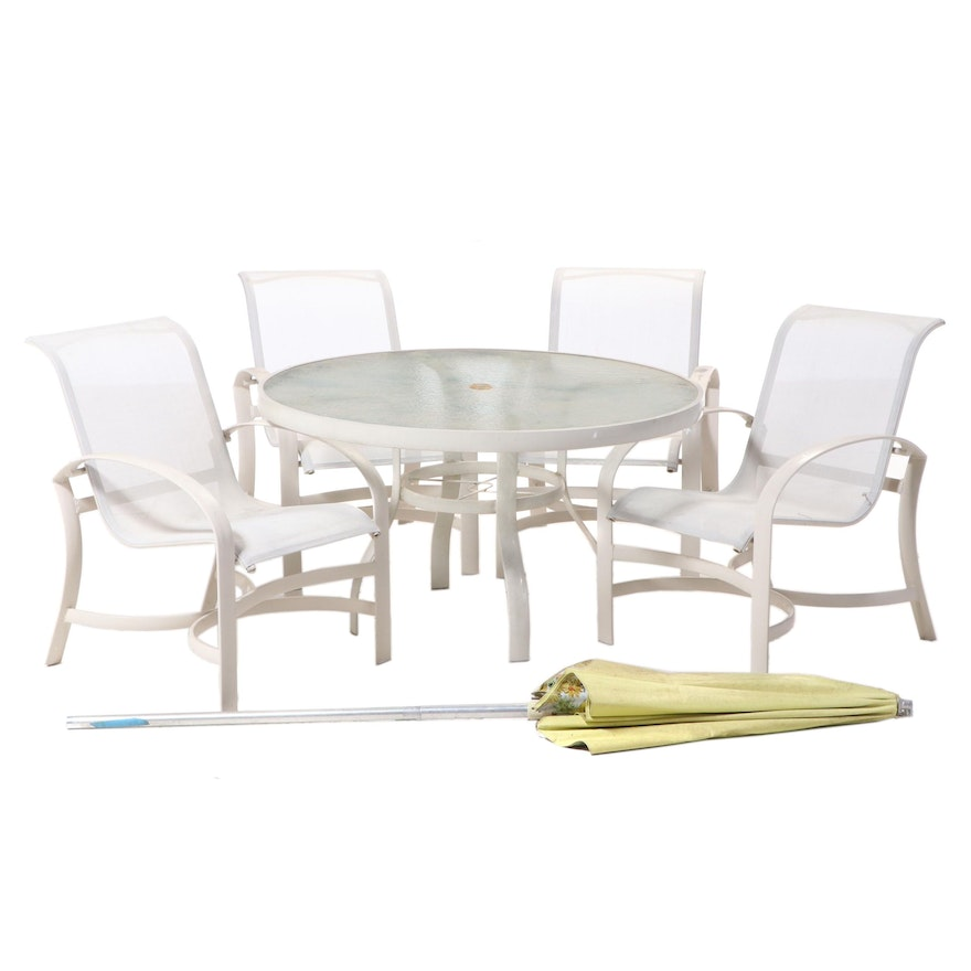 Aluminum Patio Dining Set, Late 20th Century