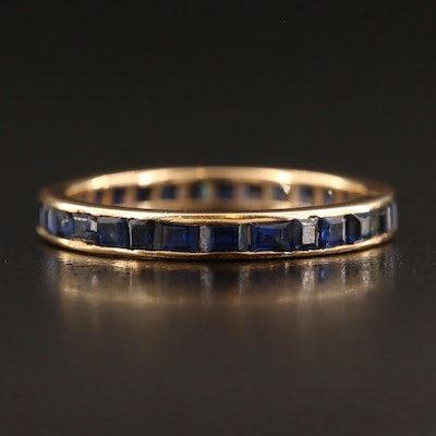 18K Channel Set Sapphire Eternity Band