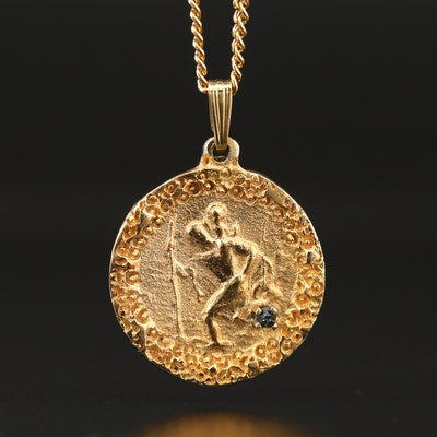 Double Sided Medallion Pendant Necklace