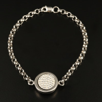 Mi Moneda Sterling Rhinestone Bracelet
