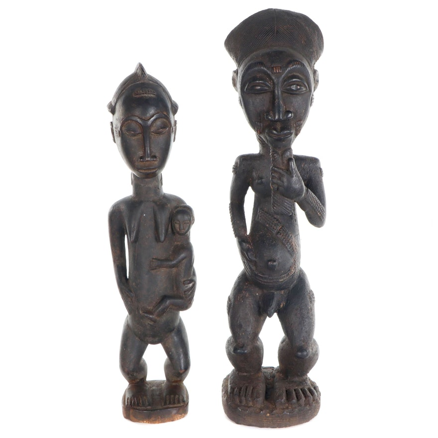Baule Hand-Carved Wooden Figures, Côte d'Ivoire