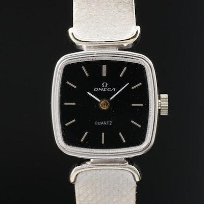18 Karat Gold Omega Quartz Wristwatch