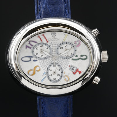Croton Stainless Steel Chronograph Quartz Wristwatch