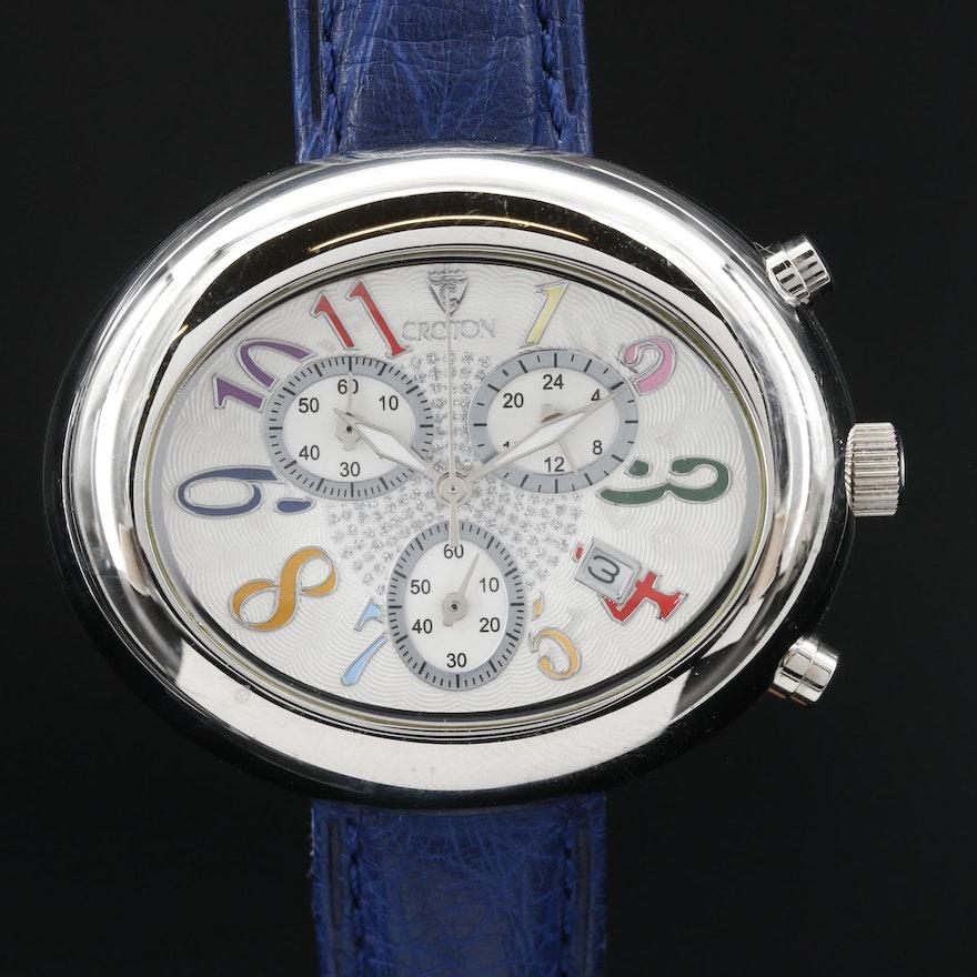 Croton Stainless Steel Chronograph Quartz Wristwatch