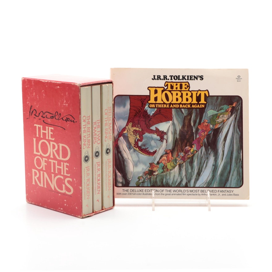 """The Lord of the Rings"" Box Set with ""The Hobbit"" by J. R. R. Tolkien"