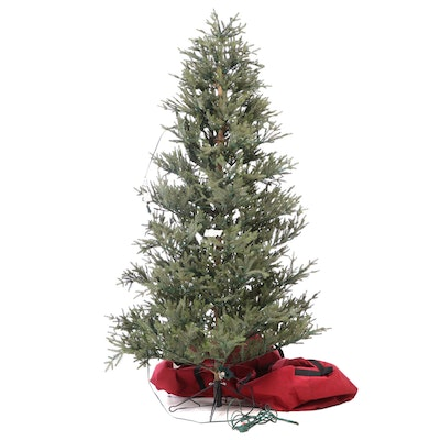 Balsam Hill 7.5' Pre-Lit Artificial Christmas Tree with Storage Bag
