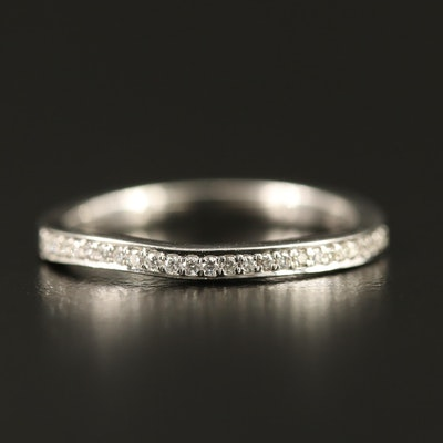 14K Diamond Shadow Band
