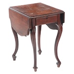 American Mahogany Pembroke Table, 19th Century