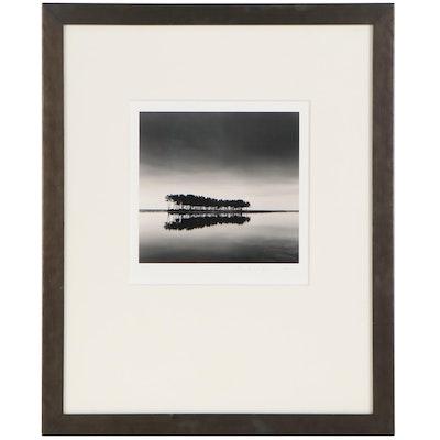 "Michael Kenna Silver Gelatin Photograph ""Pine Trees, Study 1,"" 2007"