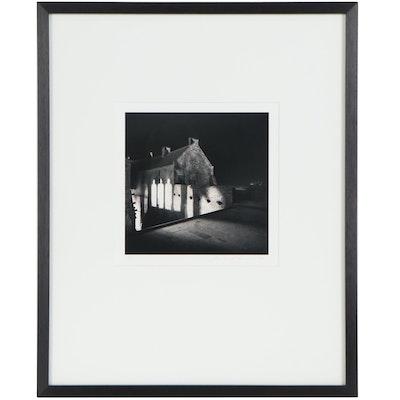 "Michael Kenna Silver Gelatin Photo ""Three A.M., Mont St. Michel, France,"" 1998"