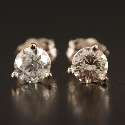 14K 0.65 CTW Diamond Stud Earrings