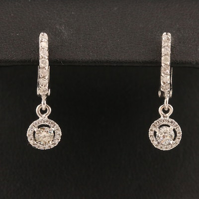 10K Diamond Dangle Earrings