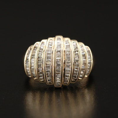14K 1.00 CTW Diamond Domed Ring