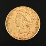 1893 Liberty Head $5 Gold Half Eagle Coin