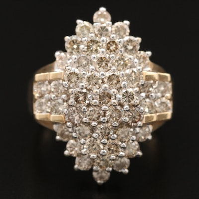 10K 2.70 CTW Diamond Cluster Ring