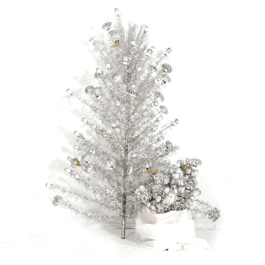 Aluminum Taper Christmas Tree, Mid-20th Century