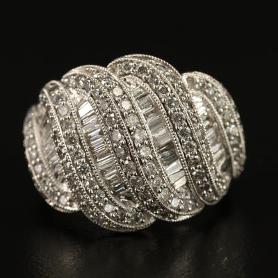 14K 2.19 CTW Diamond Multi-Row Ring