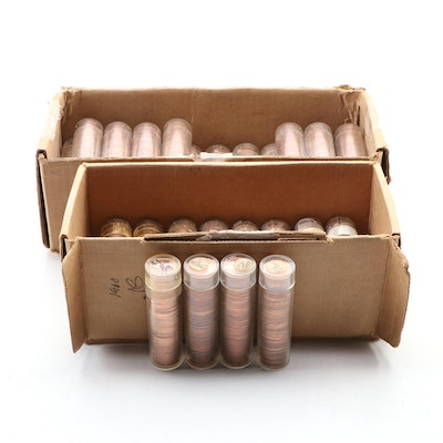 Forty-Eight Uncirculated Rolls of 1959 and 1960-D Lincoln Cents