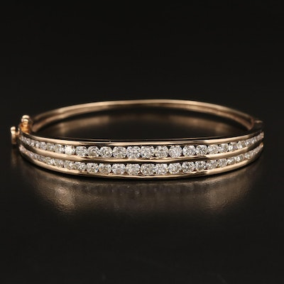 14K 5.04 CTW Diamond Double Channel Bracelet