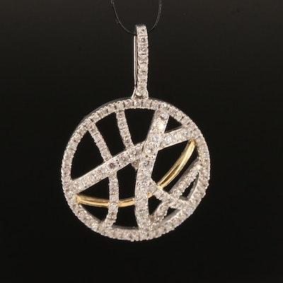 14K 1.00 CTW Diamond Circular Openwork Pendant