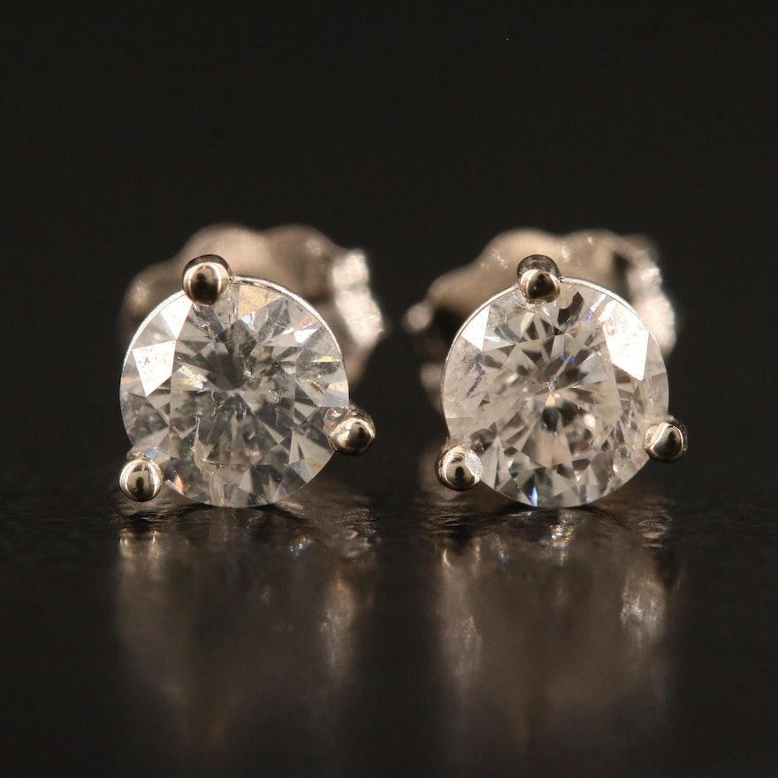 14K Martini Set 0.67 CTW Diamond Stud Earrings