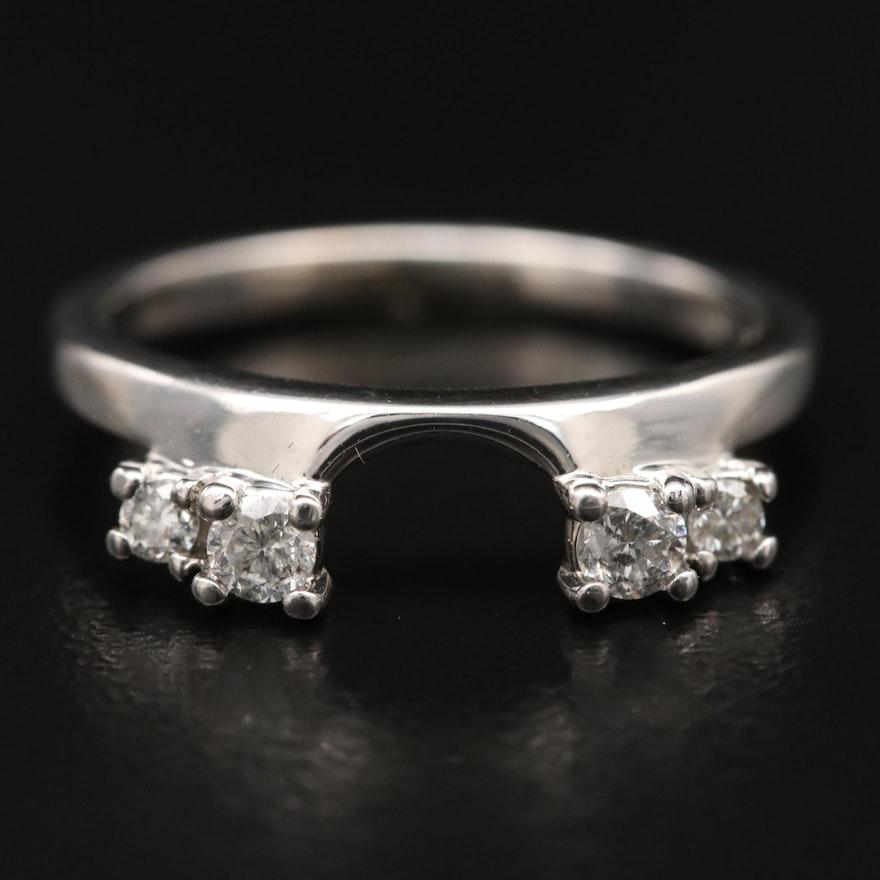 14K Diamond Enhancer Ring