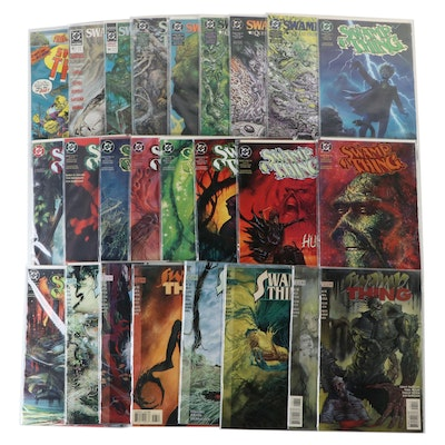 """Vintage and Modern """"Swamp Thing"""" Comics"""