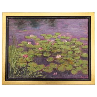 """Garncarek Aleksander Oil Painting """"Water Lilies"""", 2020"""