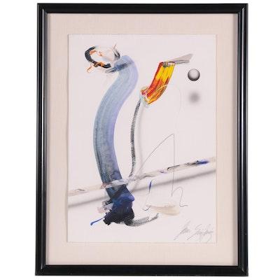 Juan Sanchez-Juarez Abstract Mixed Media Painting