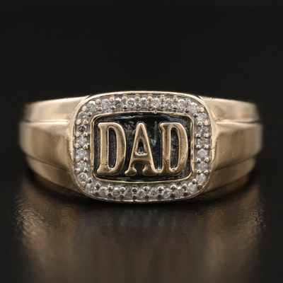 "10K Diamond ""DAD"" Ring"