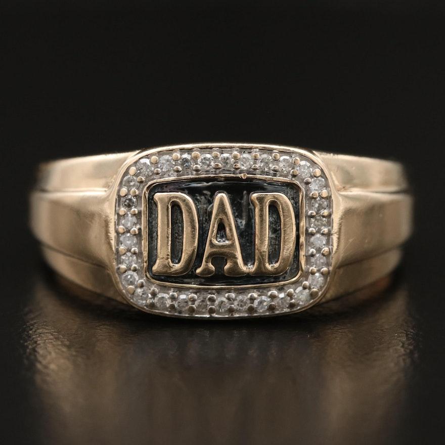"10K Diamond ""DAD"" Ring"