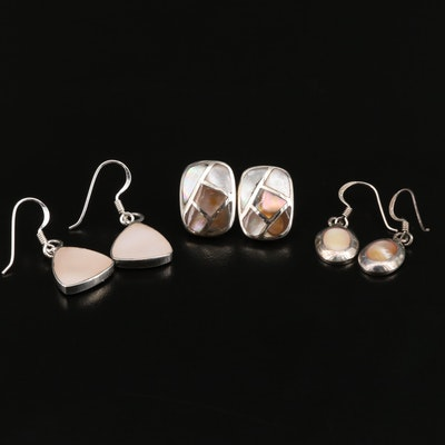 Sterling Mother of Pearl Earring Selection