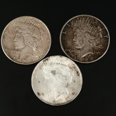 1923, 1926-S and 1934-D Peace Silver Dollars