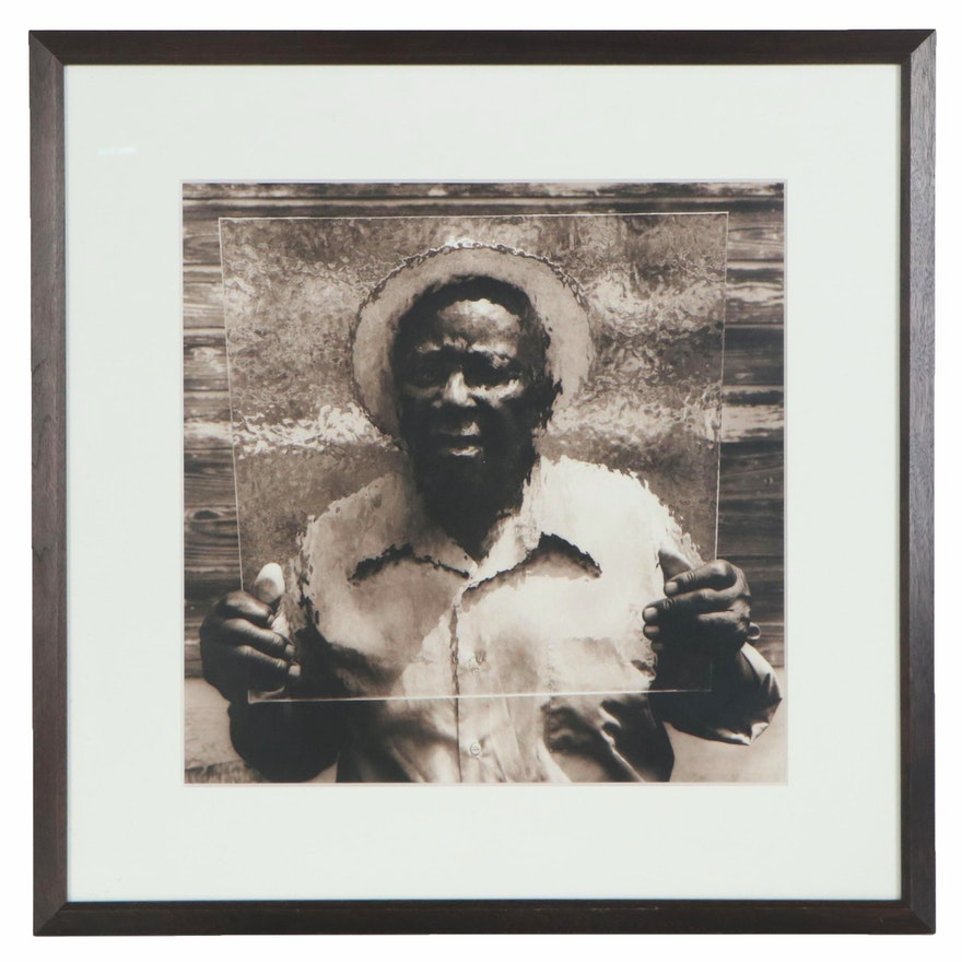 """Jack Spencer Silver Gelatin Photograph """"Cooter with Glass Coila, MS,"""" 1995"""