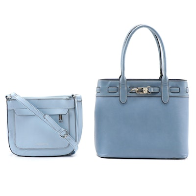 Simply Noelle Two-Way Tote Bag and Liz Claiborne Crossbody Bag in Blue