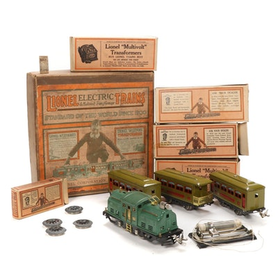 Lionel Pre War O Scale 294 Train Set in Original Box, Early 20th Century
