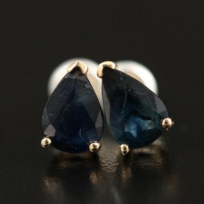 14K Sapphire Stud Earrings