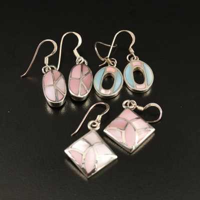 Sterling Silver Mother of Pearl Earrings Collection