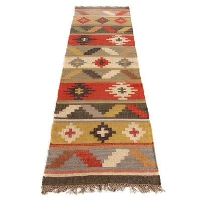 2'7 x 10'4 Handwoven Turkish Kilim Runner Rug