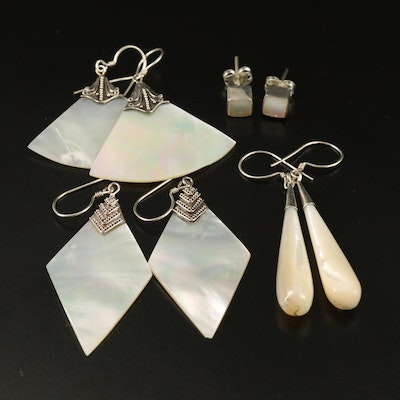 Assorted Sterling Silver Mother of Pearl Earrings