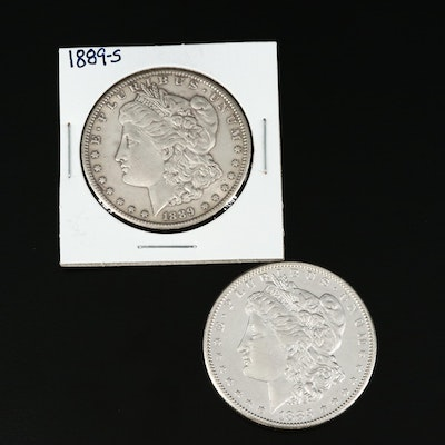 Better Date 1885-S and 1889-S Morgan Silver Dollars
