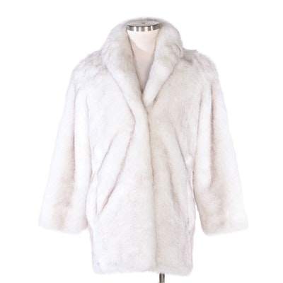 Donna Salyers Fabulous-Furs Faux Fox Fur Coat