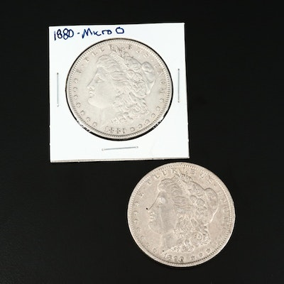 Better Date 1880-Micro O and 1890-O Morgan Silver Dollars