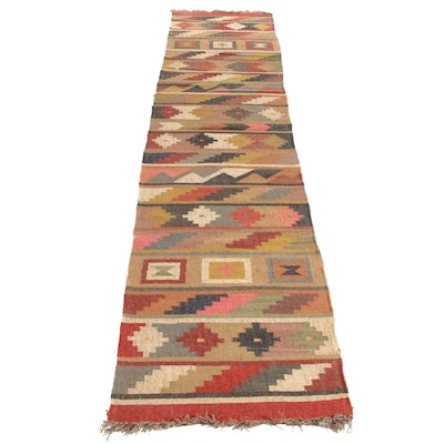2'6 x 12'5 Handwoven Turkish Kilim Runner Rug